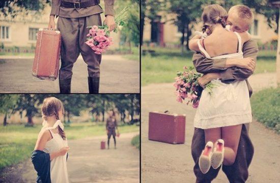 любовь солдата
