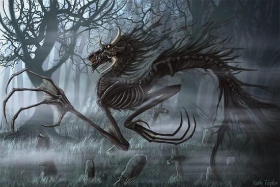 костяной дракон картинка