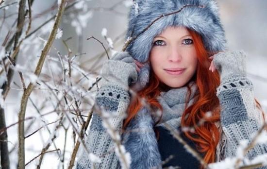 красивая девушка зима фото