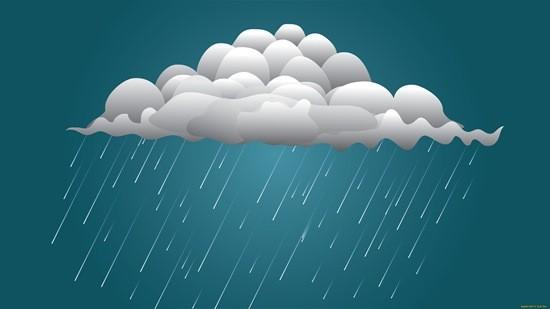 облако и дождик